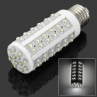 E27 5W 600LM 7000K 84-LED White Light Bulb - White (12V)