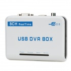8-Channel H.264 USB DVR Video Capture / Surveillance Box - White