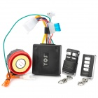 Motorcycle Anti-Theft Security Alarm w/ Remote Controller - Black (DC 12V)