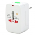 Universal Socket Travelling Power Adapter w/ EU / UK / US /AU Plugs - White (AC 100~250V)