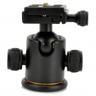 Aluminum Alloy Tripod Ball Head w/ Quick Release Plate - Black
