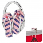 Kreative Slipper Stil Folding Bag Hanger Holder Hook - Purple + Pink + Silber