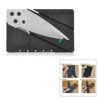 Cool Folding Credit Card Style Safety Knife - Silver + Black