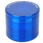 5917C Aluminum 4-Layer Herb Cigar Cigarette Grinder - Blue