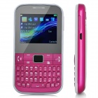"C3222 GSM QWERTY Bar Phone w/ 2.2"" Screen, Quad-Band, FM, TV and Dual-SIM - Deep Pink"