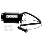 4-LED Red/Blue Police Style Strobe Light for Cars (12V DC)