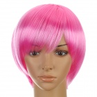 Cosplay Short Straight + Long Curl Wigs Set - Pink