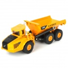 KAIDIWEI 1:87 Zinc Alloy Articulated Dump Truck Toy - Yellow + Black