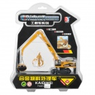 KAIDIWEI 1:87 Aluminum Alloy Hydraulic Excavator Toy - Yellow + Black