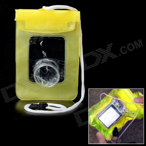 Protective Waterproof PVC Bag for Digital Camera - Yellow + Transparent