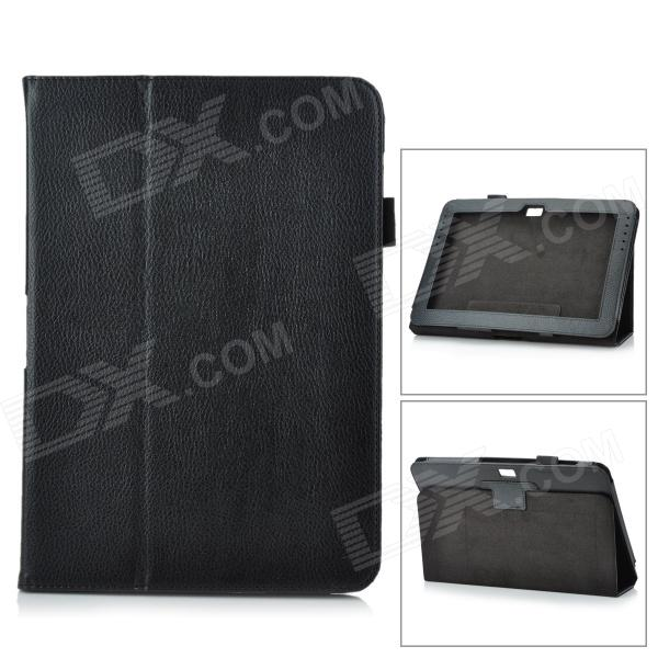 Protective PU Leather Case for Samsung Galaxy Note 10.1 GT-N8000 - Black планшет samsung galaxy note 10 1 16gb gt n8000 black