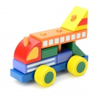 Eco-Friendly Wooden Building Blocks Airplane Educational Toy
