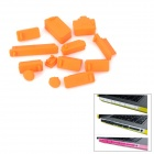 Protective Full Set Silikon Anti-Dust-Plug Stopfen für Laptop Notebook - Orange (13 PCS)