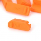 Protective Full Set Silicone Anti-Dust Plug Stopper for Laptop Notebook - Orange (13 PCS)
