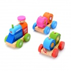 Eco-Friendly Wooden Building Blocks Train Educational Toy