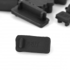 Protective Full Set Silicone Anti-Dust Plug Stopper for Laptop Notebook - Black (13 PCS)