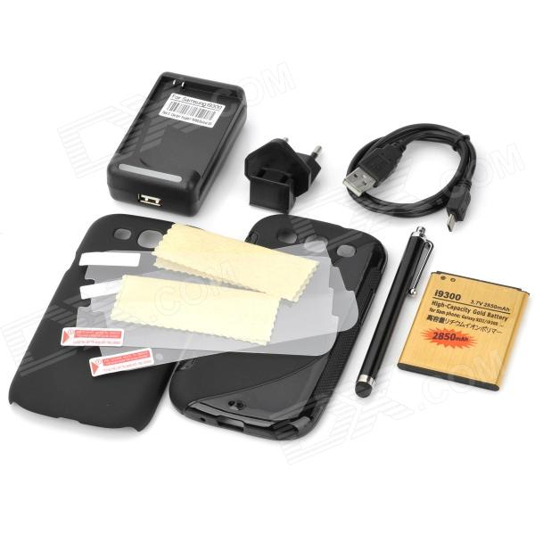 8-in-1 Back Cases + Charger + Battery +Screen Protectors + Stylus + More for Samsung Galaxy S3 i9300