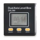 "DXL360 Rechargeable Dual-Axis 1.5"" LCD Digital Protractor Inclinometer - Black"