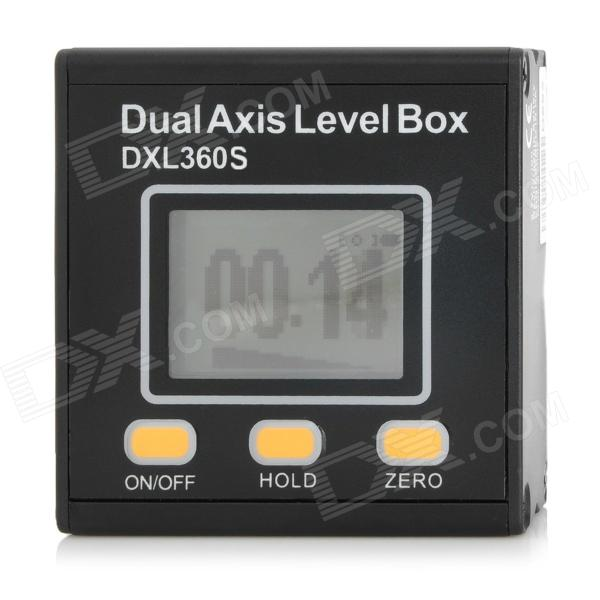 "DXL360S Rechargeable Dual-Axis 1.5"" LCD Digital Protractor Inclinometer - Black"