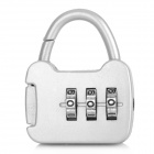 CJSJ CR-13B Mini Alloy 3-Digit PIN Combination Pad Lock - Silver