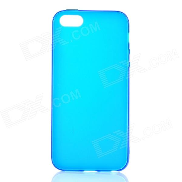 Fashion Protective TPU Back Case for Iphone 5 - Deep Blue