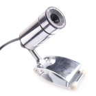 SX-02 0.3MP PC USB 2.0 Webcam with Built-in Microphone - Silver
