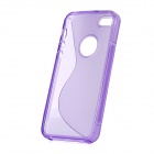 S Shaped Protective TPU Back Case for Iphone 5 - Purple