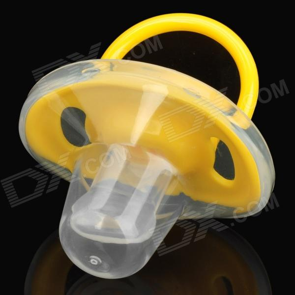 IVORY C05 Thumb Shape Baby Silicone Pacifier Nipple - Yellow + Transparent