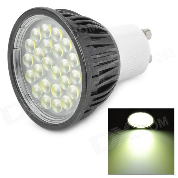 GU10 5W 6500K 340lm 24-LED Cool White Light Spotlight Bulb - Black + White (AC 100~240V)