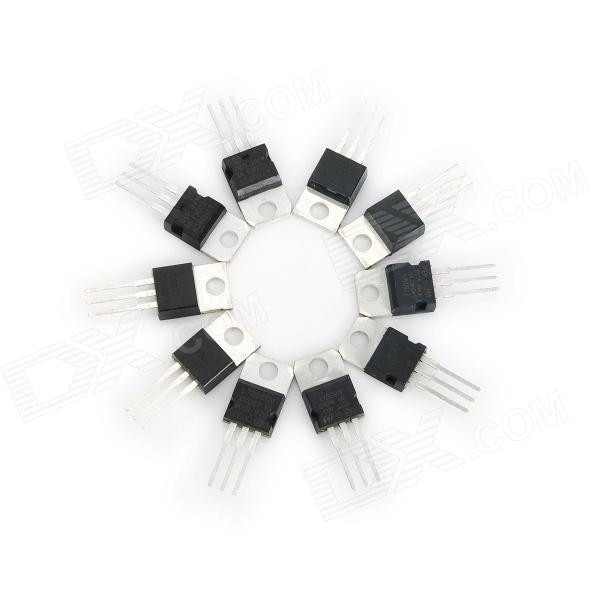 LM7805L 5V Voltage Regulator ICs (10 PCS) e cap aluminum 16v 22 2200uf electrolytic capacitors pack for diy project white 9 x 10 pcs