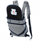 Shubeikangbi 62113 Stripe Pattern Comfortable Baby Carrier Sling - Dark Blue