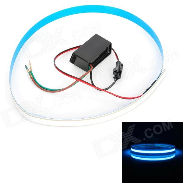 60cm Car / Motorcycle Decorative Flexible EL Cold Light Flat Strip Lamp w/ Drive - Blue (12V) - DXCar Decoration Lights<br>Color: Blue - Material: GGS - Voltage: 12V - Working current: 50mA - Strip length: 60cm - Flexible design can be bent into any shape - With 3M adhesive tape on the back easy to install - Great for car / motorcycle decoration - Package includes: - 1 x Flexible flat strip lamp (20cm-cable) - 1 x Drive<br>