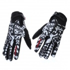 Scoyco MX44-XL Full-Finger Motorcycle Racing Gloves - Black + White (Pair / Size XL)