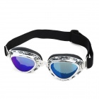 Fashion Folding Motorcycle Riding Eye Protection Glasses Goggle - Silver Frame