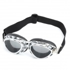 Cool Folding Motorcycle Riding Eye Tawny Lens Protection Glasses Goggle - Silver Frame