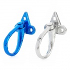 Aluminum Helmet / Luggage Hanging Hook for Motorcycle - Blue + Silver (2 PCS)