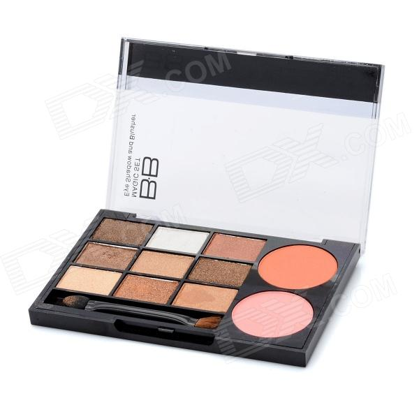 Cosmetic Makeup 9-Color Lidschatten + 2-Farben Blush Set - Golden Series