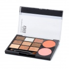 Cosmetic Makeup 9-Color Eye Shadow + 2-Color Blush Set - Golden Series