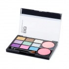 Cosmetic Makeup 9-Color Eye Shadow + 2-Color Blusher Set - Cool Color