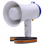 CS-882 Mini 5W Megaphone Loudspeaker Bullhorn Amplifier - White + Blue (6 x AA / 2-Flat-Pin Plug)
