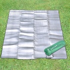 Outdoor Moisture-Proof Picnic Blanket Camping Mat Pad - Silver (200 x 190cm)