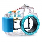 Meikon-17 Waterproof PC Camera Housing Case for Sony NEXC3 w/ 16mm Lens - Transparent + Blue