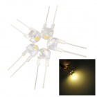 F8 8mm Warm LED de luz blanca - Amarillo + Negro (5 PCS)