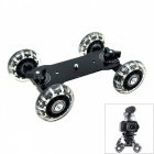 Floor Table Video Slider Track Dolly Car for DSLR Camera / Camcorders - Black