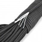 7-Core Survival Parachute Cord Paracord - Black (31m / 140kg Max)