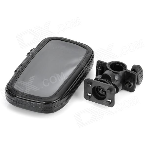 Deportes al aire libre Bike Water Resistant Bag + Mount Holder para Samsung Galaxy S3 i9300- Negro