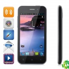 "ZOPO ZP500+ Android 4.0 WCDMA Bar Phone w/ 4.0"" Capacitive Screen, Wi-Fi, GPS and Dual-SIM - Black"