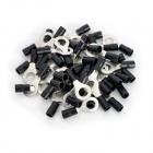 8.5mm Ring Terminal Connector - Black (50 PCS)