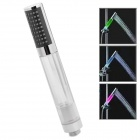 4-LED Multi-Colored Handheld Shower Head - Silver + Transparent
