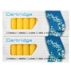 Electronic Cigarette Cartridge Refills - Yellow (Cappuccino Flavor / 2 x 10PCS)